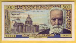 BILLET FRANCAIS - 500 Francs Victor Hugo 6.2.1958 SUP - 1871-1952 Anciens Francs Circulés Au XXème