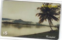 Cambodia - Camintel, Kampot, Trees, 5 $, Photo: Tang Chhin Sothy, Used - Cambodia