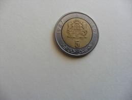 Maroc   . Monnaie  : 5 Dirham 1987 - Marruecos