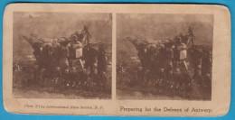 PREPARING FOR THE DEFENCE OF ANTWERPEN - Old Stereoscope Annciene Stereo Photo Card Carte Stéréoscopique BELGIUM BELGIE - 1914-18