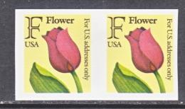 US  2518 A    **  IMPERF.  PAIR  TULIP  FLOWER - Errors, Freaks & Oddities (EFOs)