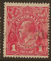 AUSTRALIA 1916 1d pale red SG 47a U #LW32
