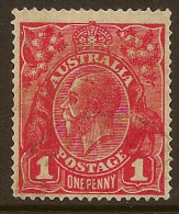 AUSTRALIA 1916 1d bright scarlet SG 47 U #LW24