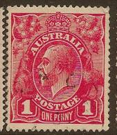 AUSTRALIA 1916 1d Pale Rose-red SG 47b U #LW43 - Used Stamps