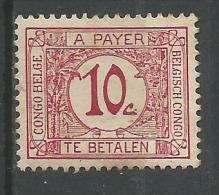 timbre taxe 10c carmin