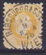 AUSTRIA  1874 EFFIGE DI FRANCESCO GIUSEPPE  UNIF. 32 / I USATO VF - 1850-1918 Impero