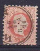 AUSTRIA  1874 EFFIGE DI FRANCESCO GIUSEPPE  UNIF. 34 / I USATO VF - 1850-1918 Impero