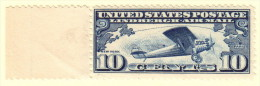 USA SC #C10 MNH  1927 Lindbergh, CV $12.50 - 1b. 1918-1940 Unused