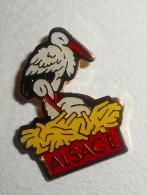 Pin's Region ALSACE CIGOGNE - Badges