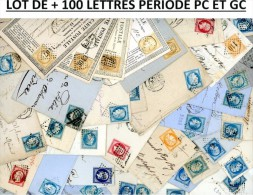 LOT DE + DE 100 LETTRES PERIODE PC ET GC JOLI LOT PRIX ATTRACTIF .  A ETUDIER. POIDS 370 GRAMMES PREVOIR POUR LE PORT - Postmark Collection (Covers)