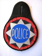 INSIGNE TISSUS PATCH POLICE NATIONALE MONTE SUR CUIR ETAT EXCELLENT