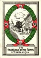 Cartolina Fascismo GERMANIA FUHRER Germany Military Postcard - Guerra 1939-45