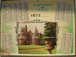 Almanach Des Ptt 1972  Chateau De Rambures - Calendars