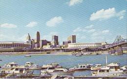 Cincinnati Ohio - Skyline W Riverfront Stadium 60s - Cincinnati
