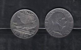RedH - REGNO , 50 Cent NICHELIO Del 1940 . Impero - 1861-1946 : Regno
