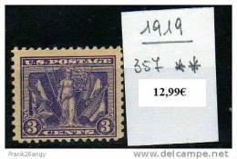 STATI UNITI - 1919 - Celebrazione Della Vittoria Cat. 357 Serie Cpl. 1v. Nuovi** Perfetti - Etats-Unis