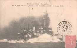 Marine Militaire Française - Brennus, Cuirassé à Tourelles, Par Un Coup De Mer. - Guerra