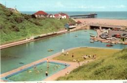Postcard - Saltburn-On-Sea Pier, Boating Pool & Paddling Pool, Yorkshire. S.6317 - Autres