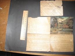 UN COURRIER + ENVELOPPE SUR PAPYRUS - Datée Du 9/8/13 Avec Vue De Kyoto Hozu River - Manuscrits