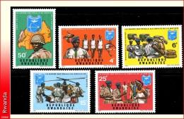 Rwanda 0438/42** Garde Nationale  MNH