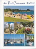 LA  FORÊT FOUESNANT (29-Finistère), Plage, Calvaire, Centre-ville, Port, Ed. Jack - La Forêt-Fouesnant