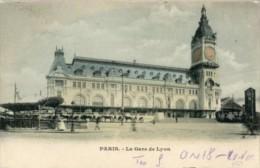 Francia, Paris - Cartolina Antica LA GARE DE LYON 1902 - OTTIMA H75 - Metropolitana, Stazioni