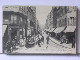 BOULOGNE SUR MER (62) - LA RUE THIERS - ANIMEE - Boulogne Sur Mer