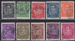 "1243(1). Yugoslavia, 1931, Definitive - King Aleksandar With Engraver ""Vagner"", Used (o) Michel 228I-237I - Gebraucht"