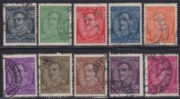 1243(6). Yugoslavia, 1931, Definitive - King Aleksandar Without Engraver, Used (o) Michel 228II-237II - Gebraucht