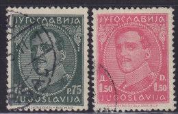 1243(7). Yugoslavia, 1932, Definitive - King Aleksandar, Used (o) Michel 241-242 - Gebraucht