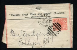 Australia Victoria Postal Stationery Newspaper Wrapper Private Overprint 1893 Stawell (D121) - 1850-1912 Victoria