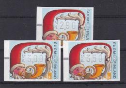ATM: Finland 1999 Santa Claus Mi. 32 Aut.number 02 3 Values Mint/** (G65-78) - ATM - Frama (labels)