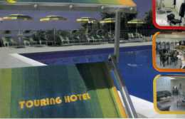 HOTEL TOURING RODI GARGANICO TRACCE DI NASTRO ADESIVO DIETRO - Cartoline