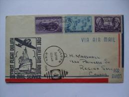 USA 1946 FIRST FLIGHT COVER DULUTH MARKS TO REGINA SASK CANADA - Vereinigte Staaten