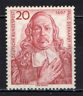 GERMANIA - 1957 - PAUL GERHARDT - POETA - 350� ANNIVERSARIO DELLA NASCITA - NUOVO MNH