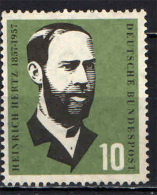 GERMANIA - 1957 - HEINRICH HERTZ - FISICO - CENTENARIO DELLA NASCITA - NUOVO MNH