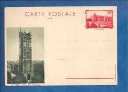 Carte Postale De France - 90c - Paris Tour Saint Jacques - Conciergerie - Postal Stamped Stationery