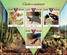 Guinea Bissau. 2015 Cactuses And Animals. (304a) - Sukkulenten
