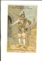 Chromo Litho Sicard Fin 19ème - Arquebousier Protestant 1572 - Poulain