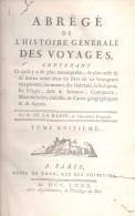 ABREGE DE L'HISTOIRE GENERALE DES VOYAGES PAR M. DE LA HARPE TOME HUITIEME AN 1780  RARISIME - LILHU - Books, Magazines, Comics