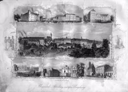 Altenburg  Thuringia, Germany, Leipzig, 23 X 31 Cm, Original Engraving, 1852 - Altenburg