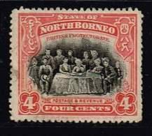 Nordborneo 1909 , Michel# 130 O - North Borneo (...-1963)