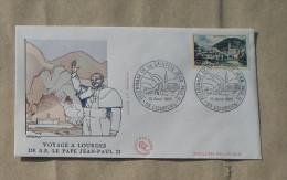 FDC   VOYAGE A LOURDES DE S.S. LE PAPE JEAN PAUL II   1983       0109 - 1980-1989