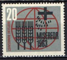 GERMANIA - 1963 - CAMPAGNA MONDIALE CONTRO LA FAME - NUOVO MNH - Nuevos