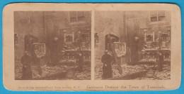 GERMANS DESTROY ... TREMONDE ( Dendermonde ) Stereoscope Stereo Photo Card Carte Stéréoscopique BELGIUM BELGIE GERMANY - 1914-18