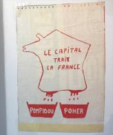 """Affiche Contestataire """"Le CAPITAL TRAIT LA France""""/ 1969 - Autres"""