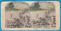LAST STAND OF THE WEST YORKSHIRES, BATTLE OF AISNE ( England France ) Stereoscope Stereo Photo Card Carte Stéréoscopique - 1914-18