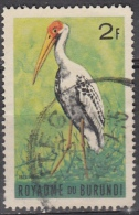 Burundi, 1965 - 2fr Yellow-billed Stork - Nr.114 Usato° - Burundi