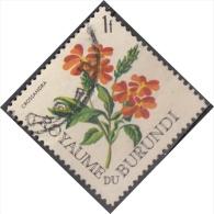 Burundi, 1966 - 1fr Crossandra - Nr.142 Usato° - Burundi