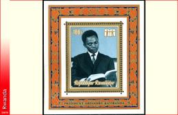 Rwanda BL 028*  Année Du Livre Kayibanda  H - Rwanda